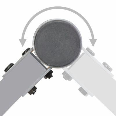 vidaXL Zaunelement mit 2 Pfosten Stoff 180 x 180 cm Taupe
