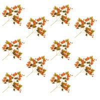 vidaXL Künstliche Blätter Traube 10 Stk. Rot 70 cm
