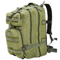 vidaXL Rucksack im Army-Style 50 L Olivgrün