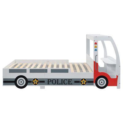 vidaXL Polizeiauto-Kinderbett mit Matratze 90x200 cm 7 Zone H2