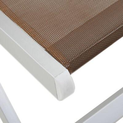 vidaXL Klappbarer Strandstuhl 2 Stk. Aluminium und Textilene Braun
