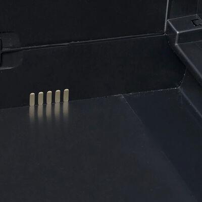 vidaXL Gartenschrank mit 3 Regalen Schwarz