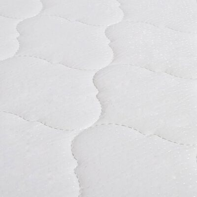 vidaXL Bett mit Memory-Schaum-Matratze Dunkelgrau Stoff 90×200 cm