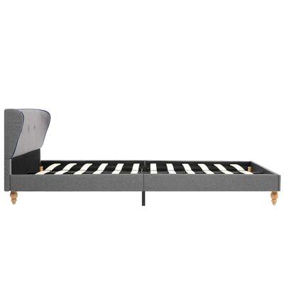 vidaXL Bett mit Matratze Hellgrau Stoff 120 x 200 cm