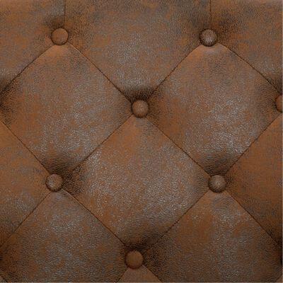 vidaXL Esszimmerstühle 2 Stk. Braun Wildleder-Optik