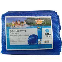 Summer Fun Sommer Poolabdeckung Solar Rund 600 cm PE Blau