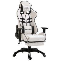vidaXL Gaming-Stuhl mit Fußstütze Schwarz Kunstleder