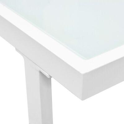 vidaXL 5-tlg. Garten-Lounge-Set Textilene Aluminium Schwarz