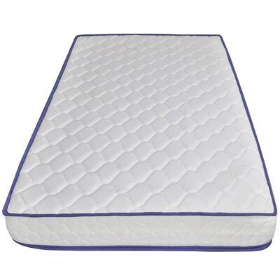 vidaXL Bett mit Memory-Schaum-Matratze Taupe Stoff 90 x 200 cm