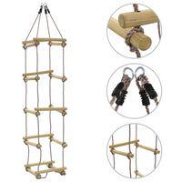 vidaXL Kinder-Strickleiter 200 cm Holz