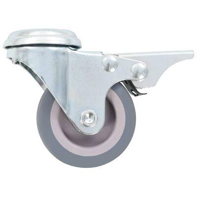 vidaXL 24 Stk. Lenkrollen mit Rückenloch 50 mm