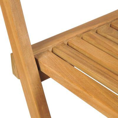 vidaXL Klappbare Garten-Barhocker 2 Stk. Massivholz Teak