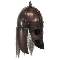 vidaXL Wikinger-Krieger-Helm Antik Replik für LARP Kupfern Stahl
