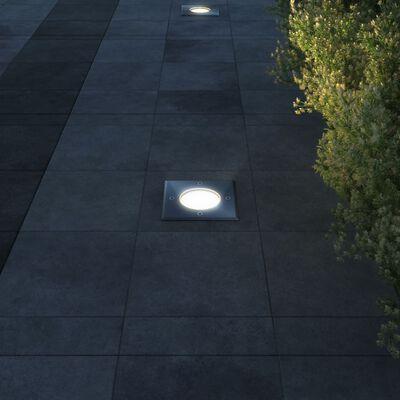 vidaXL Outdoor Bodenleuchten 3 Stk. Quadratisch