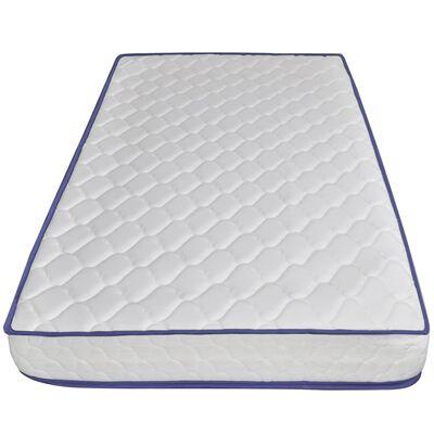 vidaXL Bett mit Memory-Schaum-Matratze Grau Samt 90 x 200 cm