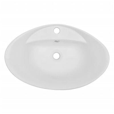 vidaXL 3-tlg. Badmöbel-Set Keramik Eichenbraun