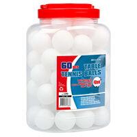 Get & Go Tischtennisbälle 60 Stk. ABS Weiß