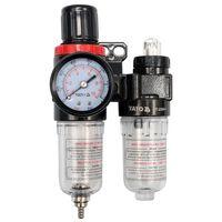 YATO Druckluftregler mit Filter und Öler 6,3 mm YT-2384