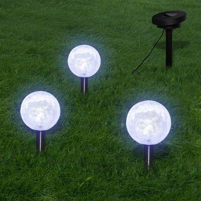 vidaXL Gartenleuchten 6 Stk. LED mit Erdspießen & Solarmodulen