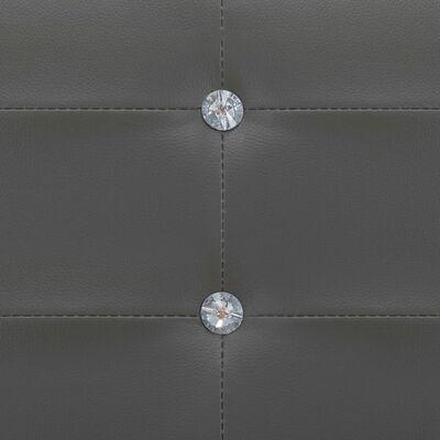 vidaXL Bett mit Matratze Grau Kunstleder 90 x 200 cm