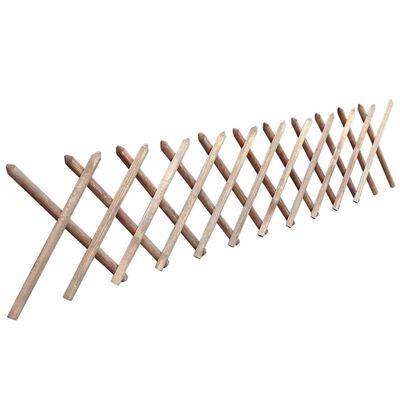 vidaXL Jägerzaun Imprägniertes Holz 250 x 60 cm