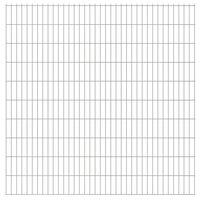 vidaXL 2D Gartenzaun-Elemente 2,008x2,03 m Gesamtlänge 26 m Silbern