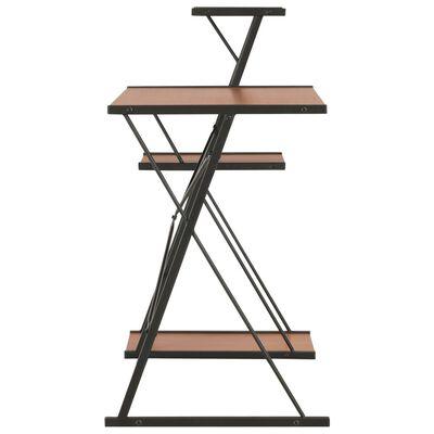 vidaXL Schreibtisch mit Regal Schwarz und Braun 116×50×93 cm