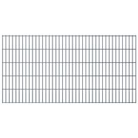 vidaXL 2D Gartenzaun-Elemente 2,008x1,03 m Gesamtlänge 46 m Grau
