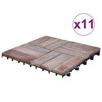 vidaXL Terrassenfliesen 11 Stk. 30x30 cm Recyceltes Massivholz