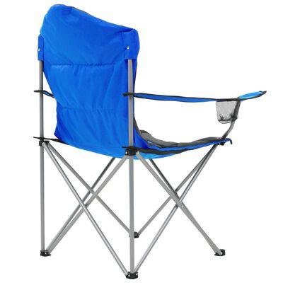 vidaXL Klappbare Campingstühle 2 Stück 96 x 60 x 102 cm Blau
