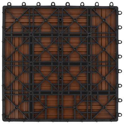 Braune Terrassenfliesen 11 Stk. 30 x 30 cm WPC 1 qm