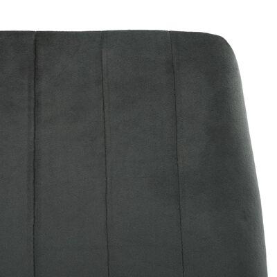 vidaXL Esszimmerstühle 6 Stk. Grau Samt
