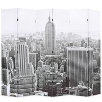 vidaXL Raumteiler klappbar 228 x 170 cm New York bei Tag Schwarz-Weiß