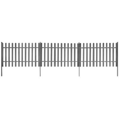 vidaXL Lattenzaun mit Pfosten 3 Stück WPC 600x120 cm