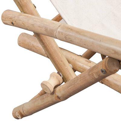 vidaXL Garten-Liegestuhl Bambus