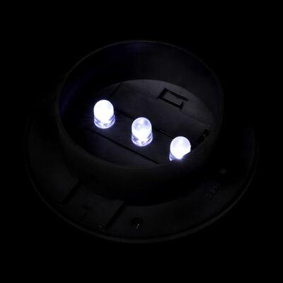 vidaXL Außenlampe Solar Zaunlichter 12 Stk. LED Schwarz