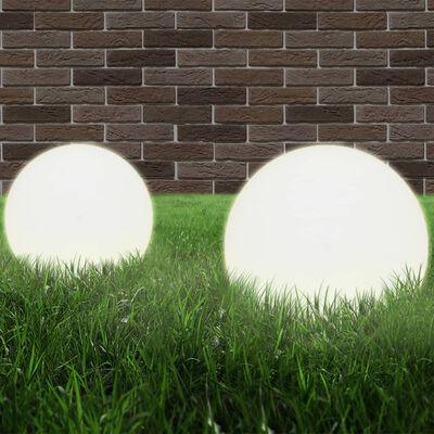 vidaXL LED-Gartenleuchten 4 Stk. Kugelförmig 25 cm PMMA