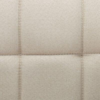 vidaXL Esszimmerstühle Drehbar 6 Stk. Cremeweiß Stoff