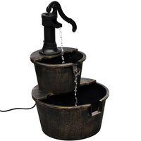 vidaXL Kaskadenbrunnen Handwasserpumpe-Design